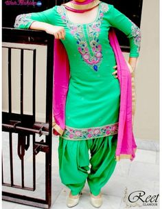 Give yourself a stylish & punjabi look with this Miraculous Green Embroidered Cotton Punjabi Suit. Embellished with embroidery work & lace work. Available with matching bottom & dupatta. It will make you noticable in special gathering. For more details Whatsapp us on +919915178418