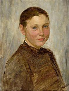 Maria Wiik (Finnish artist, 1853-1928) - Snappertunan tyttö [A girl from Snappertuna]