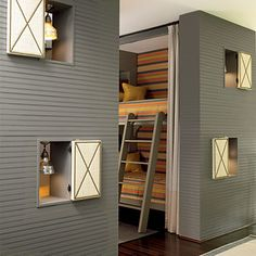 Bunk Room with Small Windows