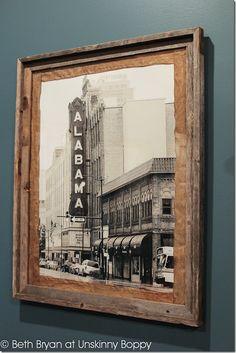 Basement Theater Room Poster Framing Ideas by Unskinny Boppy.