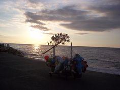Sunshine in the sea #sunset #sea #méxico #sky #photografia