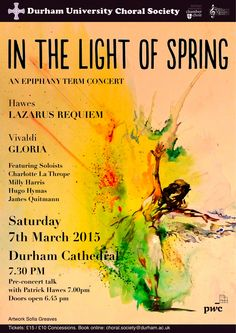 Durham University Choral Society In the Light of Spring Concert Poster - Vivaldi Gloria