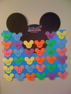 Creating you own Countdown Calendar for your next Disney Vacation is fun and great for the kids!