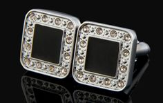 Black & Silver Cufflinks