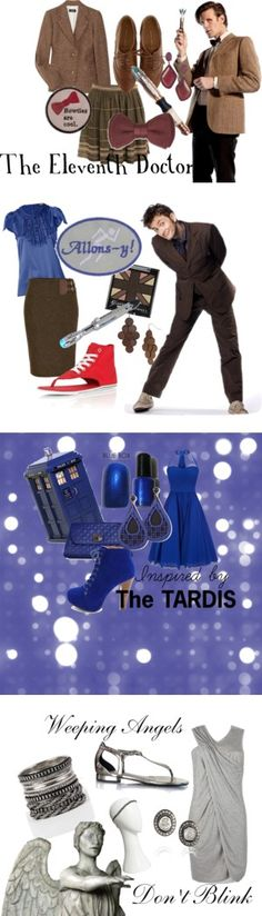 """The Whovian Collection"" by fashiongal960 on Polyvore  is it bad that I really really like this? well except for the weird converse flip flops. Normal converse fits me just fine :)"