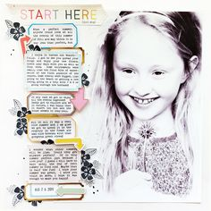 Layout uses Turn the Page by Paige Evans & Pink Paislee! Kids Scrapbook, Scrapbook Templates, Vintage Scrapbook, Scrapbook Designs, Scrapbook Page Layouts, Scrapbook Paper, Scrapbooking Ideas, Book Of Life, Project Life