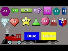 Shapes & Colors Song for Kids | Colors Train | Educational Games | Geometric Shapes - YouTube