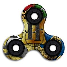 Cheap price Harry Potter Hogwarts Crest Tri-Spinner Fidget Spinner Toy Hand Spinner High Speed on sale