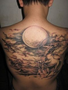 coolTop Tattoo Ideas for Men - 91 Moon Tattoos That Are Out of This World...