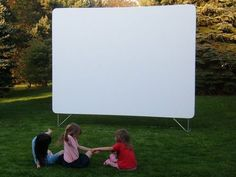 """120"""" 16:9 B-ADEALS IN/OUTDOOR BACKYARD DRIVE-IN MOVIE PROJECTOR SCREEN MATERIAL"""
