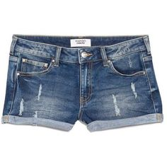 Mango Medium denim shorts featuring polyvore fashion clothing shorts bottoms pants denim blue women ripped denim shorts jean shorts distressed shorts zipper shorts denim shorts