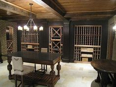 wine cellar and a tasting table for two. I would prefer a bigger tasting bar though