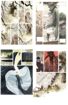 Man Arenas: Canto I : from thumbnails to pages