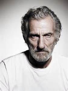 Senior Man With Grey Hair And Beard Portrait Closeup Stock Photo ...