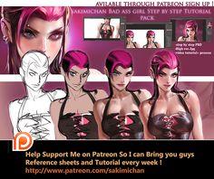 Bad ass girl Tutorial pack by sakimichan.deviantart.com on @DeviantArt