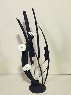 A black and white design by Marlene Purdy. 2nd place. 2015 Ohio State Fair.