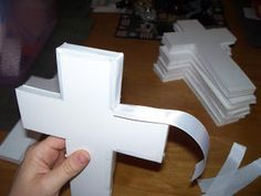 City Kitty's Blog Spot: Making a homemade CROSS CENTERPIECE for Christening