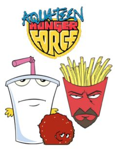 This is Aqua Teen Hunger Force, made by adult swim which is about the three fast food things in the picture. The milkshake's name is Master Shake, the fries is called Frylock and the ball of meat is called Meatwad. Cartoon Art, Cartoon Characters, Force Movie, Old Cartoon Shows, Aqua Teen Hunger Force, Turner Classic Movies, Printable Adult Coloring Pages, 90s Cartoons, Classic Cartoons
