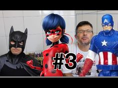 #3 Batman Lady Bug: Homem Aranha  Spider Man  Arlequina Coringa Batgirl ...