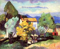 bofransson:  Mimosas in Bloom Henri Manguin - 1907