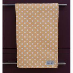 Yellow Polka Dot Organic Tea Towel