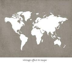 Map at Jennasuedesign's Etsy shop $15.00 #map #worldmap #print
