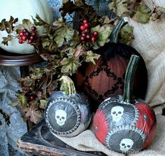 Martha Stewart Crafts Decoupage Pumpkins, Petticoat Junktion