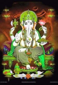 Shri Ganesh! Ganesh Lord, Sri Ganesh, Lord Vishnu, Durga Images, Ganesh Images, Hindus, Ganesh Aarti, Maa Durga Image, Buddha
