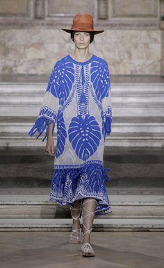 Temperley London Summer '16 Ramosa Jacquard Knit Tunic worn with Makina Knit Dress