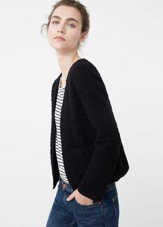 Melierte baumwolljacke - Jacken für Damen | MANGO Deutschland