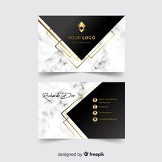 Discover thousands of copyright-free vectors. Graphic resources for personal and commercial use. Thousands of new files uploaded daily. Beauty Business Cards, Luxury Business Cards, Business Cards Layout, Elegant Business Cards, Free Business Card Templates, Business Card Mock Up, Business Card Design, Templates Free, Creation Web