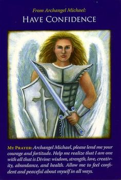 Archangel Michael Angel Cards by Doreen Virtue Doreen Virtue, Angel Protector, Archangel Prayers, Pomes, Angel Guidance, Angel Quotes, Angel Numbers, Angels Among Us, Angel Cards