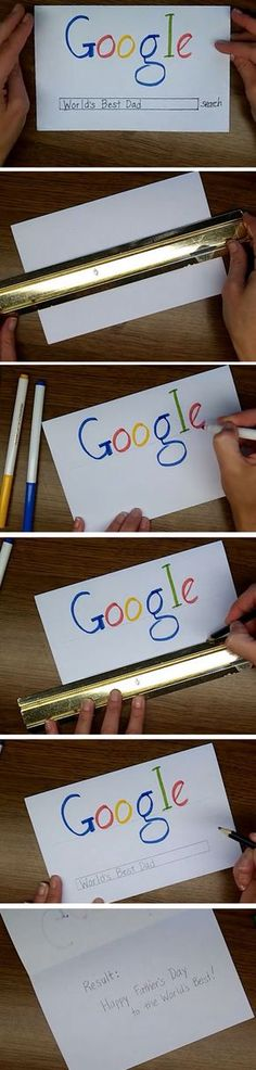 Google Search   Easy Fathers Day Cards for Kids to Make More