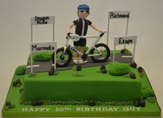 Wonderful Photo of Cycling Birthday Cake . 80th Birthday Cake For Men, Birthday Cake Video, Bithday Cake, Birthday Cakes For Men, Themed Birthday Cakes, Themed Cakes, Bicycle Cake, Bike Cakes, Dance Cakes