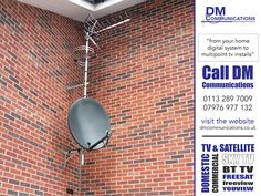 Based in Leeds, we are one of Yorkshire's premier TV Aerial Installation Companies with extensive knowledge of the latest digital and In-Home Entertainment Systems. DM Communications have been established for over 15 years. Managing Director, Dean Marsden, has over 30 years experience in the TV Aerial and Satellite Communications Industry.  http://areyouinbusiness.co.uk/item/dm-communications/