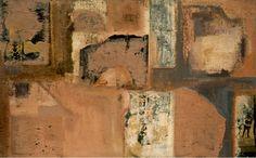 «Sense títol» Albert Vives, 1964, pintura acrílica i collage sobre arpillera, 73 x 116,3 cm, MAMLL 1102   © Hereus d'Albert Vives, Lleida