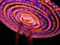 """Lunar Eclipse Lighted Hoop !!   42"""" outer diameter, 24 LED's, 7/8"""" OD tubing, weighs 21 ounces, good for absolute beginners and larger bodies, +$15"""