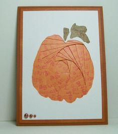 Iris Folded Card - Pumpkin