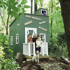 cabane jardin enfant couleur verte