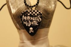 Motionless in White Guitar Pick Necklace by HellcatBoutique