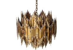 Raul Jauret chandelier; working condition, takes one 100 watt light bulb.