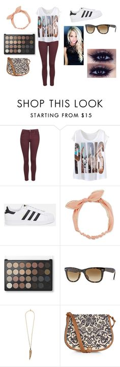 """paris❤"" by mrs-rodriguez-2410 ❤ liked on Polyvore featuring Topshop, adidas Originals, Arizona, Ray-Ban, Roberto Cavalli and Accessorize"
