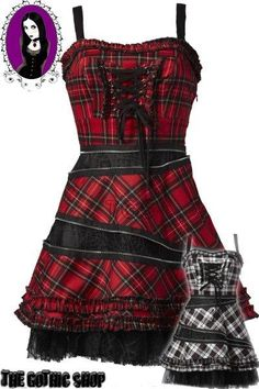 I found 'Lenoir Tartan & Zip Punk Gothic Dress by Hell Bunny' on Wish, check it out!