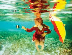 stunning underwater photography by Elena Kalis from her Alice in Wonderland series