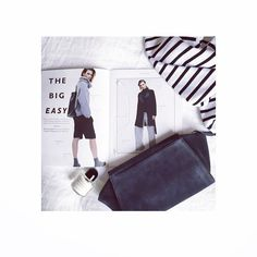THE BIG EASY: Monday morning go-to stripes and super-soft suede. #atterleyroad #stayahead #flatlay #fashion #monday #style
