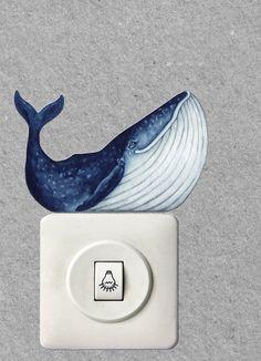 Lichtschalterfigur Wal
