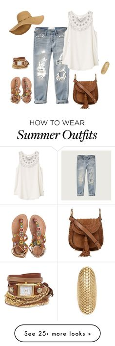 """""""outfit 4197"""" by natalyag on Polyvore featuring Abercrombie & Fitch, Laidback London, RVCA, Chloé, La Mer, Venyx, Summer and sandals"""