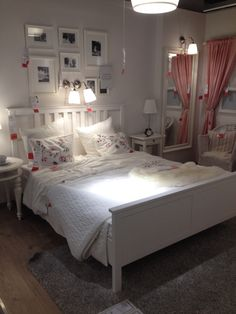 White Ikea hemnes bed . Next project :-)