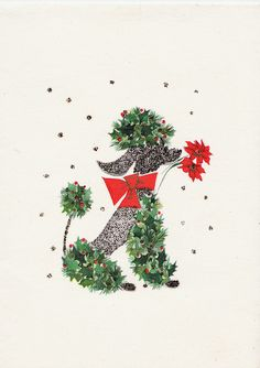 A nice variation on the ol' Christmas Poodle!