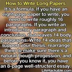 Essay formula writing Writing essays can be a challenging skill for a lot of people but it doesn't have to be that way. Writing an essay is defined as an attempt to explain something. A well written essay can be a joy to read. College Hacks, School Hacks, College Life, College Essay, Dorm Hacks, School Essay, E Learning, Essay Writing, Writing Tips